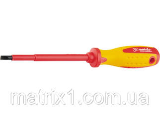 Отвертка Insulated SL5,5, 125 мм, 1000 В, двухкомпонентная рукоятка Matrix Professional