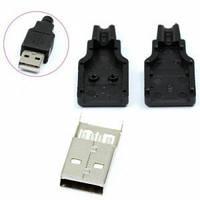 Штекер USB-A с разборным корпусом