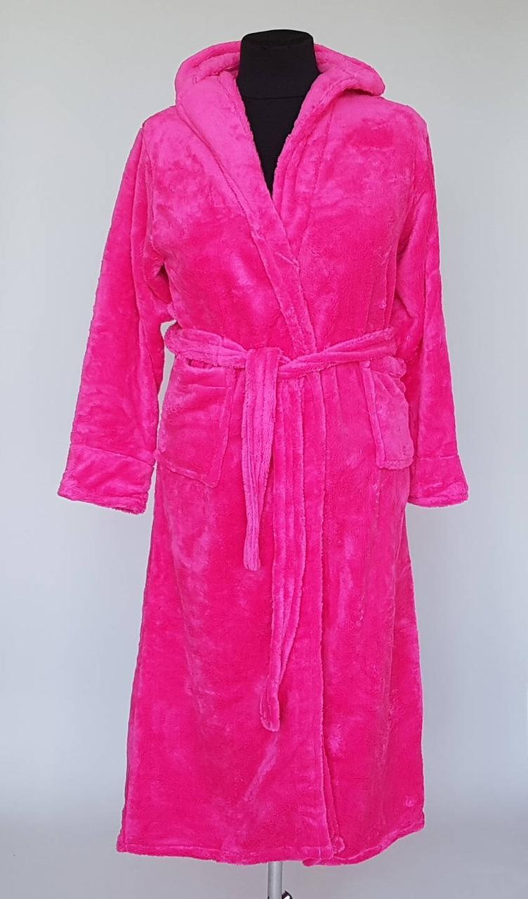 Женский длинный халат с капюшоном (с M по 3XL)