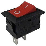 Выключатель KCD101 PRK-0001A клавишный мини Красный