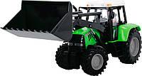 Трактор с фигуркой водителя, 25 см (салатовый), Dickie Toys