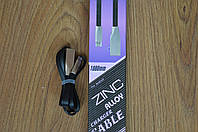 Кабель E-cable Micro USB - USB Flat Series черный 1 м