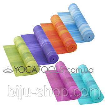 Килимок для йоги GANGES, PVС, BODHI, Німеччина, 183x61cm