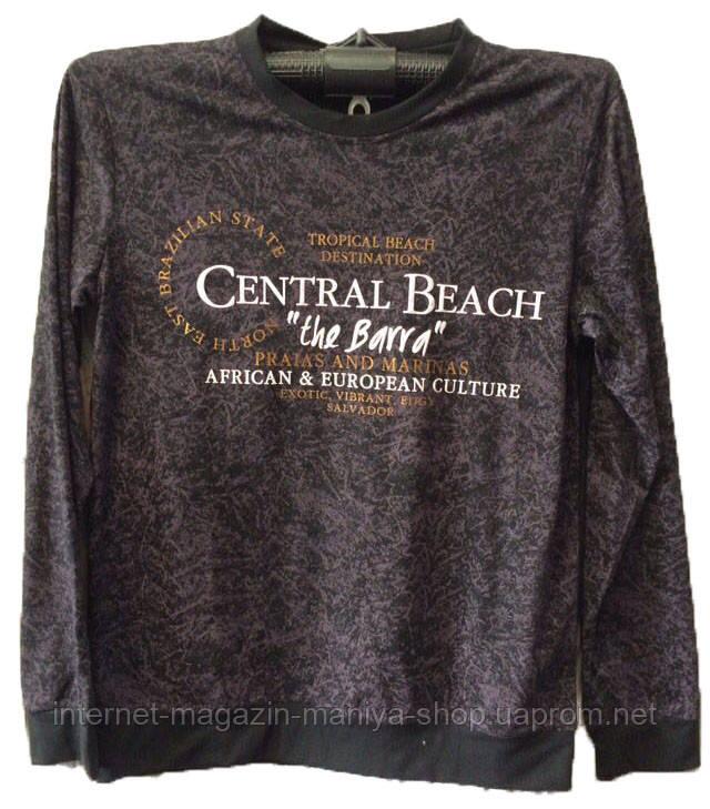 Пуловер мужской принт текст (деми)