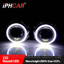 """Маска для ксеноновых линз 3.0"""" : G132 / Z129-FLAT-CREE со светодиодными Ангельскими Глазами LED CREE, фото 2"""