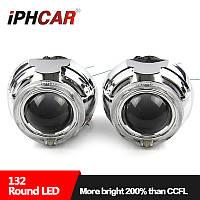 """Маска для ксеноновых линз 3.0"""" : G132 / Z129-FLAT-CREE со светодиодными Ангельскими Глазами LED CREE"""