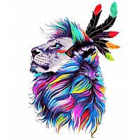 "Картина по номерам ""Несокрушимый лев"" [40х50см, Без Коробки]"