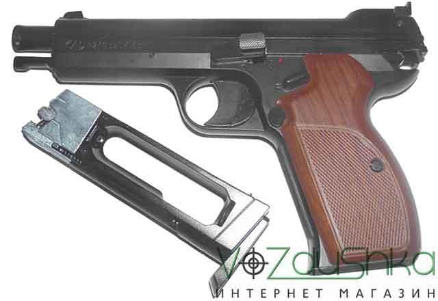 пистолет пневматический sas p210 blowback с магазином