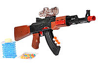 Автомат AK47 c гелевыми пулями, присосками, очками