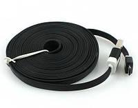 Плоский дата кабель micro USB 3 метра FDN