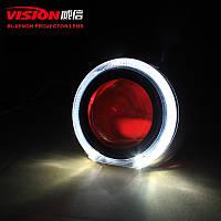"""Маска для ксеноновых линз 3.0"""" : Tiguan G102 / Z114-CREE со светодиодными Ангельскими Глазами LED CREE"""