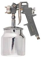 Краскораспылитель (краскопульт) пневмат. с нижним бачком V=1,0 л + сопла 1.2, 1.5 и 1.8 мм MATRIX