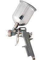 Краскораспылитель (краскопульт) пневмат. с верхним бачком V=1,0 л + сопла 1.2, 1.5 и 1.8 мм MATRIX