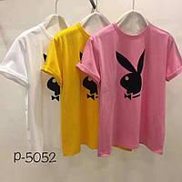 Женская футболка playboy 3 цвета