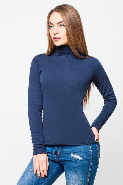 Гольф женский Полушерсть  темно-синий (42-48)
