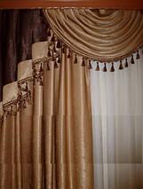 Комплект шторы+ламбрикен №-101, фото 2