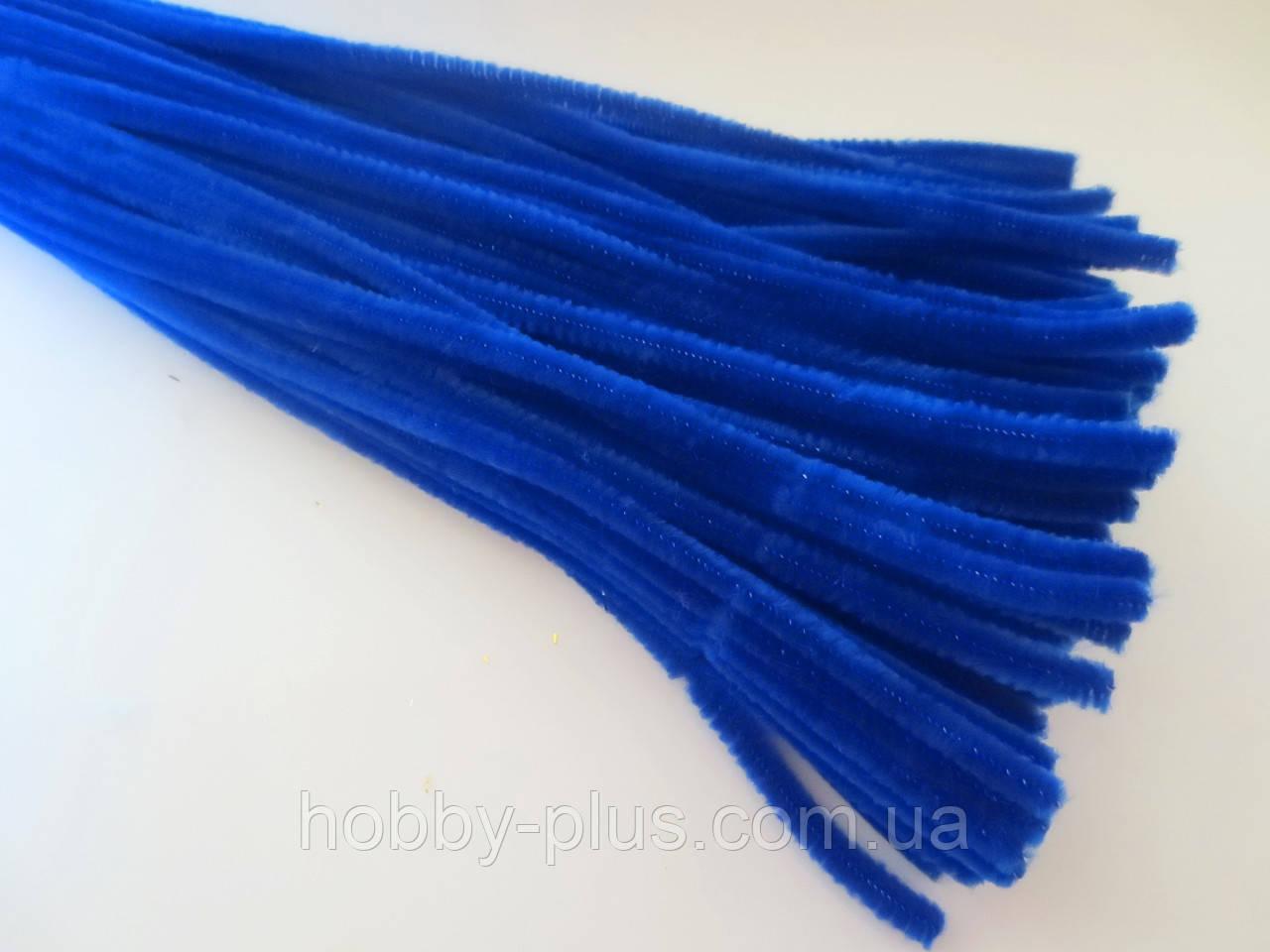 Синельная проволока, 30 см, цвет - синий, 10 шт