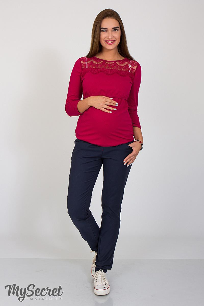 Джинсы-skinny fit для беременных Paia, из стрейчевого коттона, синие , фото 91720bb8d4b