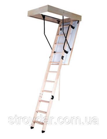 Лестница чердачная Oman LONG TERMO PS с поручнем 120х70 мм