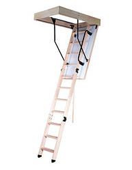 Чердачная лестница Oman LONG TERMO PS с поручнем 120х60 мм Н280