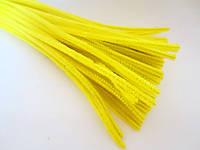 Синельная проволока, 30 см, цвет - желтый, 10 шт, фото 1