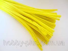 Синельная дріт, 30 см, колір - жовтий, 10 шт