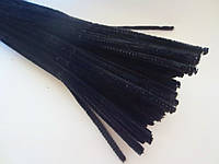 Синельная проволока, 30 см, цвет - черный, 10 шт
