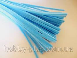 Синельная проволока, 30 см, цвет - голубой, 10 шт