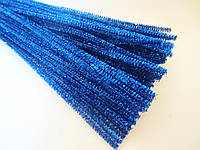 Синельная проволока, 30 см, цвет - синий, блестящий, 10 шт, фото 1