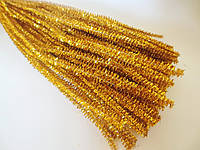 Синельная проволока, 30 см, цвет - золотистый, блестящий, 10 шт, фото 1