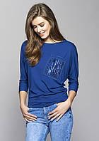Блуза Vera Zaps синего цвета, коллекция осень-зима 2017-2018