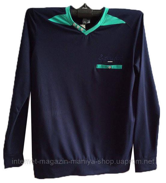 Пуловер мужской пуговички карман (деми)