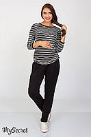 Стильні штани для вагітних Sonic TR-37.031, з трикотажу двунитка, чорні 44р, фото 1