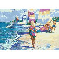 """Картина раскраска по номерам """"На Мальдивах"""" набор для рисования по схеме"""