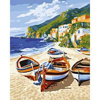 """Картина раскраска по номерам """"Тихая гавань"""" набор для рисования"""