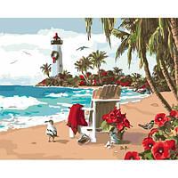 """Картина раскраска по номерам """"Испанский залив"""" набор для рисования"""