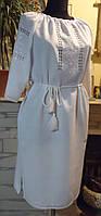 Плаття - вишиванка на білому льоні розмір L