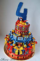 Торт з Барні і соків в садок на 20 осіб, фото 1
