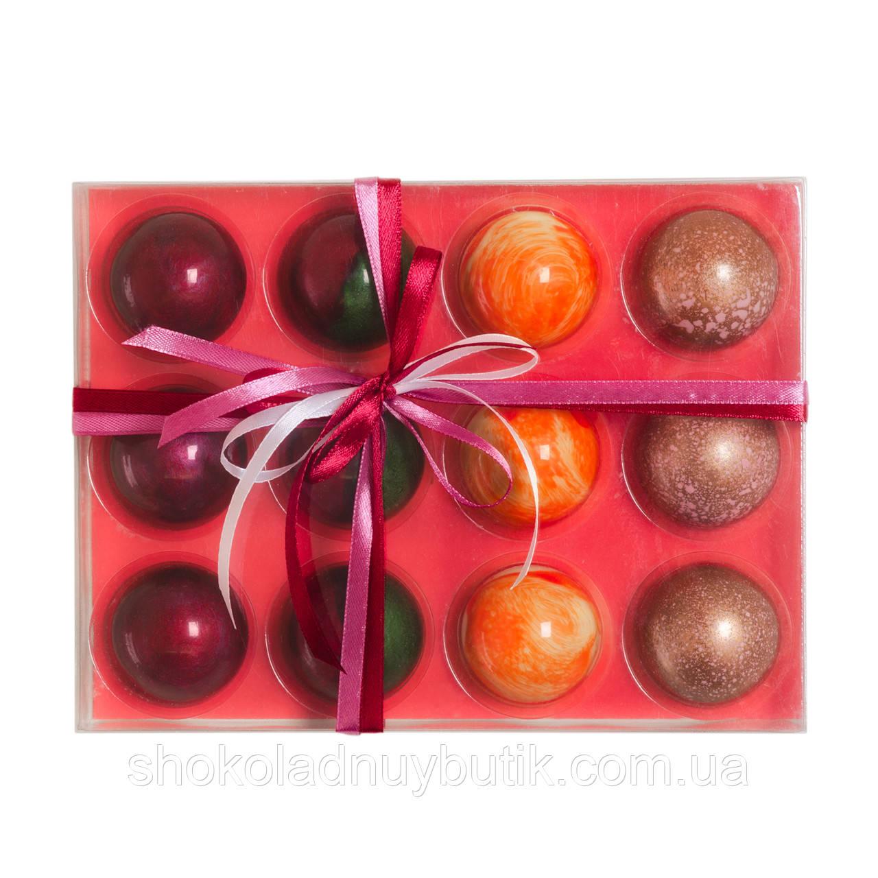 """Шоколадные конфеты ручной работы """"Glass 12"""""""