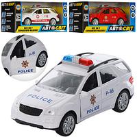 Машинка  616-8 FPW инер-я,3 вида (пожарная,полиция,скорая),открыв.двер 15-7-6см FV