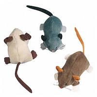 КАРЛИ-ФЛАМИНГО игрушка мышка для кошек с кошачьей мятой, плюш, 7х5х3,5 см