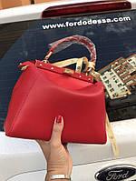 Стильная женская сумка FENDI PEEKABOO красная