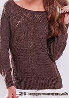 Молодёжный свитер вязаный. 21 Коричневый