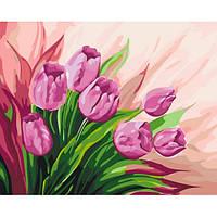 """Картина раскраска по номерам """"Персидские тюльпаны"""" набор для рисования по схеме"""