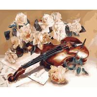 """Картина по номерам """"Мелодия скрипки"""" [40х50см, С Коробкой]"""