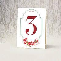 """Номер стола """"Цветочный стиль"""" (Арт. TN-14-1)"""