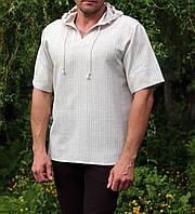 Мужская рубашка лен