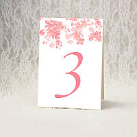 """Номер стола """"Розовый стиль"""" (Арт. TN-5492)"""
