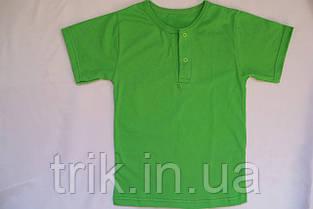 Футболка зеленая для девочки застежка-кнопка, фото 3