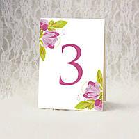 Номерки на столы с цветами (Арт. TN-2620)